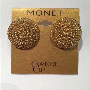 Monet Vintage Clip Signed Earrings